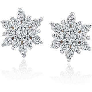 Beautiful sparkling diamond  Earrings NR78472SI-JK18Y