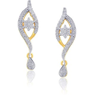 Beautiful sparkling diamond  Earrings OEM803SI-JK18Y