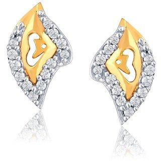 Beautiful sparkling diamond  Earrings PE13028SI-JK18Y