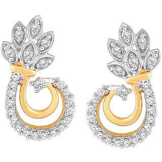 Beautiful sparkling diamond  Earrings PE21684SI-JK18Y
