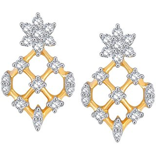 Beautiful sparkling diamond  Earrings PE25420SI-JK18Y