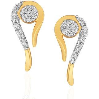 Beautiful sparkling diamond  Earrings TEM545SI-JK18Y