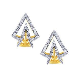 Beautiful sparkling diamond  Earrings YE089SI-JK18Y