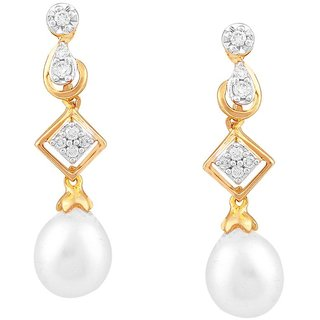 Beautiful sparkling diamond  Earrings DDE02151SI-JK18Y