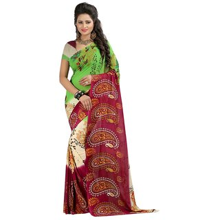 ROYALFASHION Multi Printed Georgette Sarre With Blouse