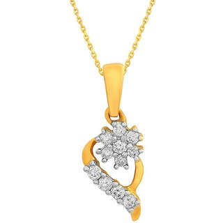 Beautiful sparkling diamond  Pendant DDP02402SI-JK18Y