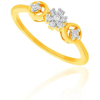 Beautiful sparkling diamond  Ring DDR02567SI-JK18Y