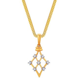Beautiful sparkling diamond  Pendant DDP02813SI-JK18Y