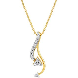 Beautiful sparkling diamond  Pendant DDP20888SI-JK18Y