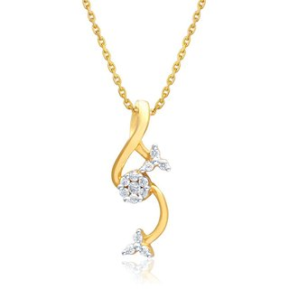 Beautiful sparkling diamond  Pendant HIP00006SI-JK18Y