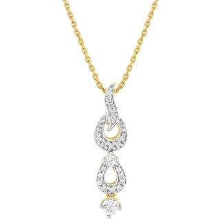 Beautiful sparkling diamond  Pendant CP598SI-JK18Y