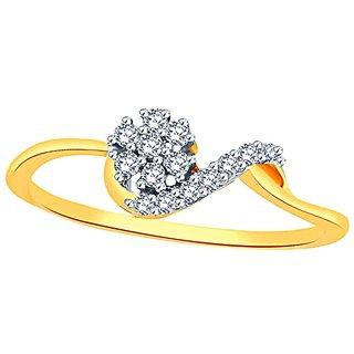 Beautiful sparkling diamond  Ring DDR03773SI-JK18Y