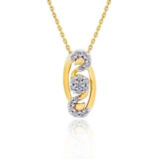 Beautiful sparkling diamond  Pendant PP16278SI-JK18Y
