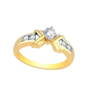 Beautiful sparkling diamond  Ring CR833SI-JK18Y
