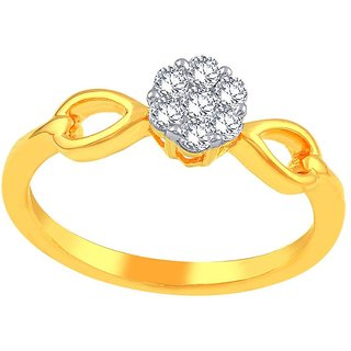 Beautiful sparkling diamond  Ring PLNR10015SI-JK18Y