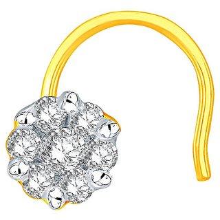 Beautiful sparkling diamond  Nosepin NR85014SI-JK18Y