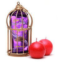 Dairy Milk Bar in Cage with Ball Candle