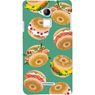 Oyehoye Burger For Foodies Pattern Style Printed Designer Back Cover For Coolpad Note 3 Mobile Phone - Matte Finish Hard Plastic Slim Case
