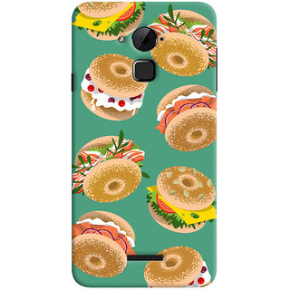 Oyehoye Burger For Foodies Pattern Style Printed Designer Back Cover For Coolpad Note 3 Lite Mobile Phone - Matte Finish Hard Plastic Slim Case