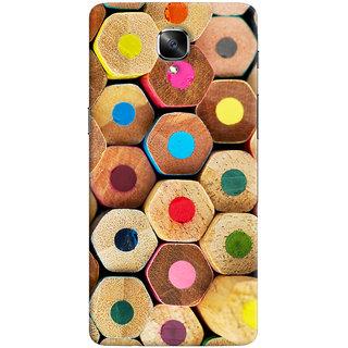 Oyehoye Colourful Pattern Style Printed Designer Back Cover For OnePlus 3 Mobile Phone - Matte Finish Hard Plastic Slim Case