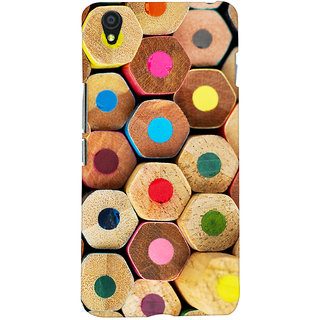 Oyehoye Colourful Pattern Style Printed Designer Back Cover For OnePlus X Mobile Phone - Matte Finish Hard Plastic Slim Case