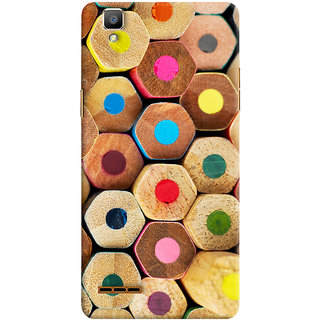 Oyehoye Colourful Pattern Style Printed Designer Back Cover For Oppo F1 Mobile Phone - Matte Finish Hard Plastic Slim Case