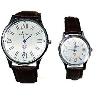 JOHN SMITH HIS N HER 5004-WHT COUPLE WATCH