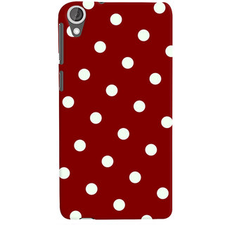 Oyehoye Red And White Polka Dots Pattern Style Printed Designer Back Cover For HTC Desire 820 Dual Sim Mobile Phone - Matte Finish Hard Plastic Slim Case