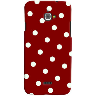 Oyehoye Red And White Polka Dots Pattern Style Printed Designer Back Cover For Infocus M350 Mobile Phone - Matte Finish Hard Plastic Slim Case