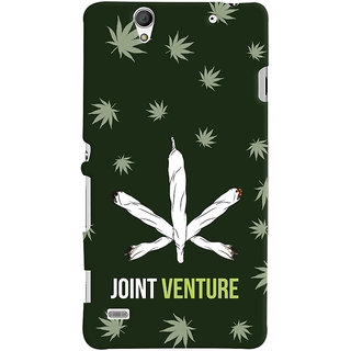Oyehoye JOINT Venture Quirky Printed Designer Back Cover For Sony Xperia C4 / Dual Sim Mobile Phone - Matte Finish Hard Plastic Slim Case