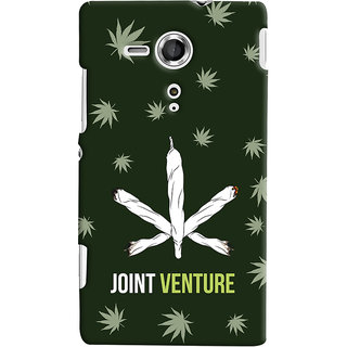 Oyehoye JOINT Venture Quirky Printed Designer Back Cover For Sony Xperia SP Mobile Phone - Matte Finish Hard Plastic Slim Case