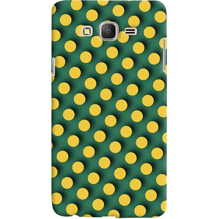 Oyehoye Green and Yellow Polks Dots Pattern Style Printed Designer Back Cover For Samsung Galaxy ON7 Mobile Phone - Matte Finish Hard Plastic Slim Case