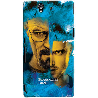 Oyehoye Breaking Bad Printed Designer Back Cover For Sony Xperia Z Mobile Phone - Matte Finish Hard Plastic Slim Case
