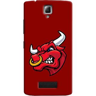 Oyehoye Lenovo A2010 Mobile Phone Back Cover With Raging Bull - Durable Matte Finish Hard Plastic Slim Case