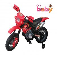 Oh Baby, Baby Battery Operated And Duke Model Bike Red Color With Musical Sound For Your Kids SE-BOB-10