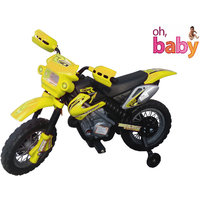 Oh Baby, Baby Battery Operated And Duke Model Bike Yellow Color With Musical Sound For Your Kids SE-BOB-14