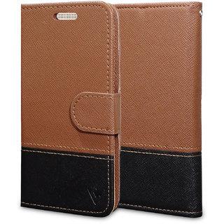 Ceego Wallet Flip Cover for Intex Aqua 3G Pro - Credit Card Slots  Wallet Ultimate Value for Money - EcoGo Series Intex Aqua 3g Pro Flip Case (Brown / Black)