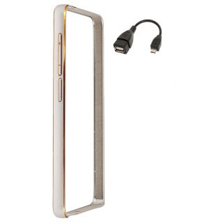 Motorola Moto G3 Bumper Case Cover Silver With OTG Cable