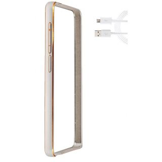 Samsung Z1 Bumper Case Cover Silver With USB Cable