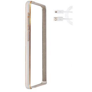 Redmi mi4i Bumper Case Cover Silver With USB Cable
