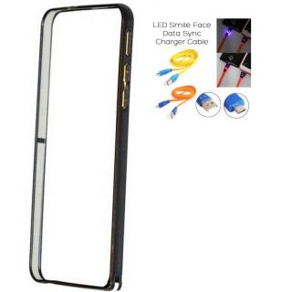 Samsung Galaxy Note 2 N7100 Bumper Case Cover Black With Usb Simily Data Cable