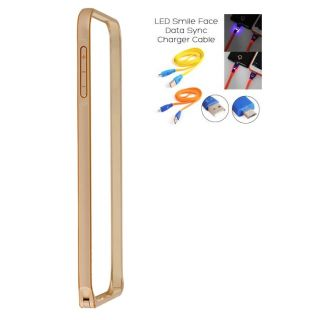 Samsung Galaxy Grand 2 G7106 Bumper Case Cover Golden With Usb Simily Data Cable