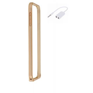 HTC Desire 526 Bumper Case Cover Golden With Aux Splitter