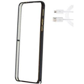 Motorola Moto G3 Bumper Case Cover Black With USB Cable