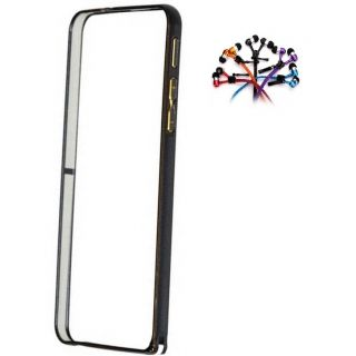 Samsung Galaxy A3 Bumper Case Cover Black With Zipper Earphone