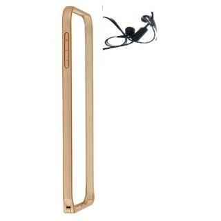 Sony Xepria Z2 Bumper Case Cover Golden With Earphone