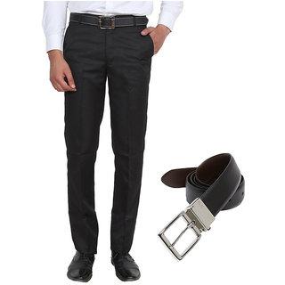 Black Regular Flat with Belt