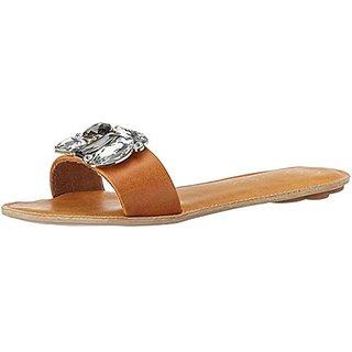 Catwalk Women Tan Slip on Flats