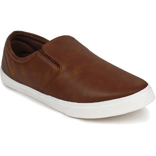 Adreno Men's Tan Lace Up Casual Shoes