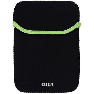 GIZGA 14.1 inch Protective Reversible Laptop Sleeve (Black + Green)